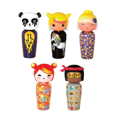 KOKESHI BY JEREMY SCOTT SET OF 5 MINIATURES